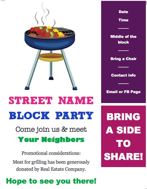 free block party flyer template redhead ranting