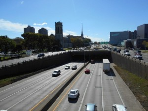 traffic on I-94 in Minneapolis
