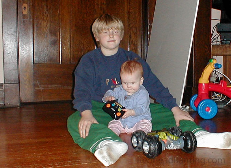 Lets play a game, kids playing with a remote controlled car
