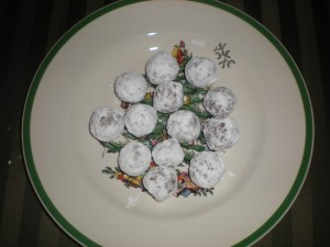 Bourbon Balls, holiday cookies,