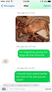 text message between mother and son