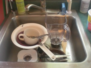 dishes left in the sink by ungrateful children