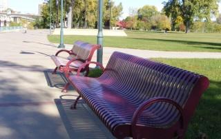 park bench, empty park bench