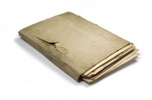 permanent record, file folder