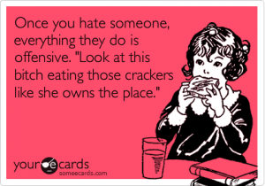 some ecards bitch eating a cracker