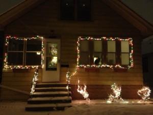 snow in April in Minnesota, Christmas lights in April, Minnesnowta