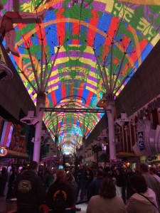 Fremont Street light show, light show on Fremont Street in Las Vegas,