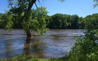 Mississippi River flooded