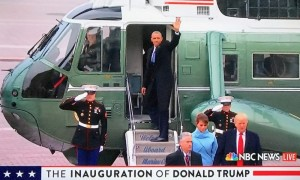 Former President Obama Leaves on Executive One