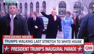 President Trump Melania and Barron Trump Inauguration Parade