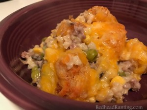 Tater Tot Hot Dish with Mushroom Risotto
