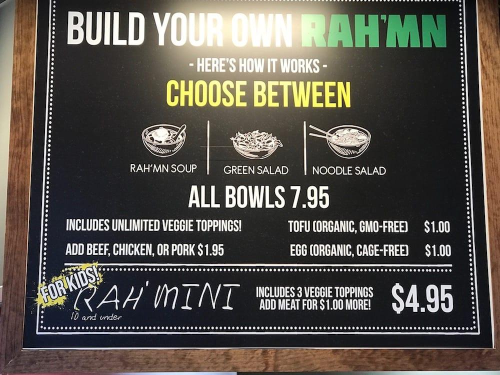 RAH'MN menu