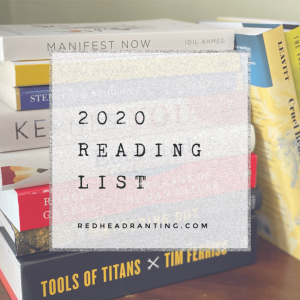 Books to read in 2020, list of books to read in 2020