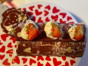 Red Velvet Heart Deco Cake