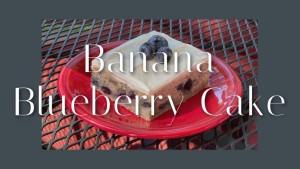 banana blueberry cake